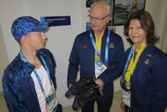 Royal Visitors at the 2014 Winter Olympics in Sochi The King and Queen of Sweden paid a short visit to Sochi and cheered on their fellow Swedes from February 14th to 16th. The visited the athlete's village, watched the Swedish country relay team scoop of two gold medals, and took in some hockey, figure skating, and curling. Here they are meeting with Swedish figure skating champion Alexander Majarov before his competition where he ended up placing 14th and scored a personal best.
