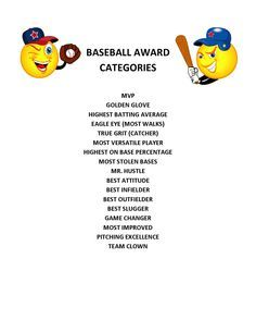 end of season baseball awards  Ernie Gutierrez (ernie2888) on Pinterest