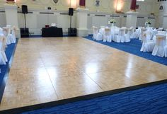 Traditional parquet oak wood dance floor White Lead, Black And White, Led Dance, Dance Floors, Dining Table, Party Ideas, Traditional, Table Decorations, Weddings