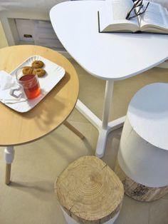 living room tables: Seletti, Ikea and tree trunk tables - works (always) in progress | I diari dell'appartamento
