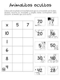 Educación en México , recursos educativos, estrategias didácticas TIC´S , primaria Multiplication Activities, Math Worksheets, Math Activities, 2nd Grade Math, Math Class, Math Sheets, Eureka Math, Montessori Math, Simple Math