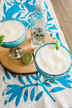 A pitcher of frozen beergaritas is the perfect cocktail for entertaining. Mix up a batch in the blender with fresh lime juice, frozen limeade, Mexican beer, and tequila.