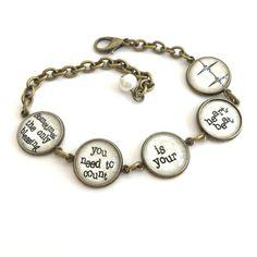 Blessing Quote Antique Brass Bracelet