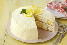 This classic white layer cake is infused with stripes of lemon jelly, then frosted with lemon-flavoured whipped topping.