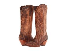 LOVE this distressed style, but would want it in black/grey. Tony Lama 6071L Tan Saigets.