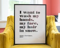 White Christmas Quote Canvas--LOVE THIS! MY favorite Christmas movie!