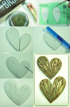 heart picture tute ~ Polymer Clay Tutorials