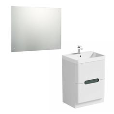 Mode Ellis slate floorstanding vanity drawer unit and basin with LED mirror Vanity Drawers, Vanity Units, Contemporary Bathroom Furniture, Bathroom Storage Units, White Vanity, Led Mirror, Drawer Unit, Basin, Master Bathroom