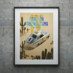 Automobilist - Porsche 356 SL - Past - Carrera PanAmericana - 1953 | Collector's Edition - Collector's Edition - Posters, Store