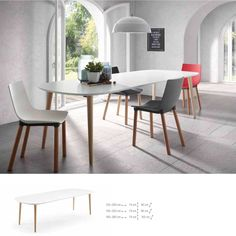 Discover modern extendable dining table, made of the best quality material, on Viadurini. Extendable dining table to furnish your living room with modern style. White Dining Table Modern, Wooden Dining Tables, Extendable Dining Table, Dining Chairs, Kitchen Dining, Kitchen Decor, Floors Kitchen, Kitchen White, Modern Kitchens