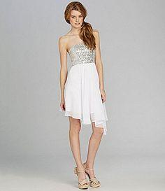 GB Strapless Sequin Dress      8th Grade Dance