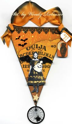 Beautiful Halloween papercraft banner