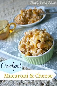 Crock Pot Mac and Cheese: There's no precooking noodles involved here... just pour the ingredients into the slow cooker and GO!