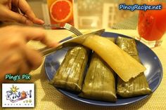 Recipe for Cassava Suman. My grandmother used to make this. :)
