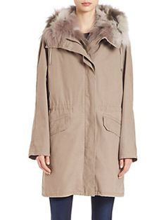 Army by Yves Salomon - Fur-Trimmed Parka