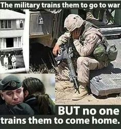 Pray for our military men and women coming home. Wake up America and help our soldiers that are coming home! Military Quotes, Military Humor, Military Love, Military Veterans, Homeless Veterans, Military Spouse, Usmc Humor, Army Quotes, Military Service