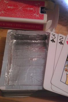 This deck of cards that's hollow enough for small things, like money and ……