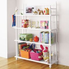 Jenny Lind Bookcase (White). Fave bookcase for girls' room