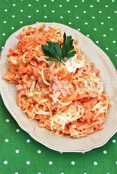 Surówka z marchewki, jabłka i pora Polish Recipes, Polish Food, Pork Dishes, Spaghetti, Good Food, Food And Drink, Thanksgiving, Favorite Recipes, Diet