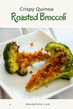 Crispy Quinoa Roasted Broccoli via @wendypolisi