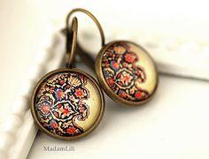 ♥ Orientalischer Teppich III ♥ Ohrringe von MadamLili® ♥ Lebensfreude zum Tragen! :) ♥ auf DaWanda.com