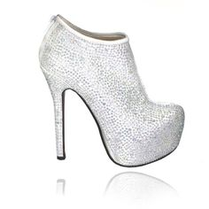 cfa07d113e21ce Lemonade Crystal White Frosted Ankle Boots - 4EverBling