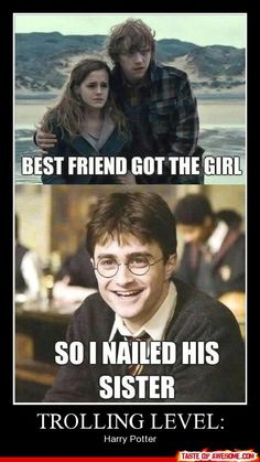 Harry Potter jokes <3 - Click image to find more Other Pinterest pins