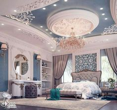 29 Ideas Luxury Bedroom Design Mansions For 2019 Home Bedroom, Modern Bedroom, Bedroom Decor, Master Bedroom, Bedroom Ideas, Rich Girl Bedroom, Contemporary Bedroom, Bedroom Curtains, Bedroom Inspiration