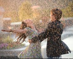 Dancing in rain
