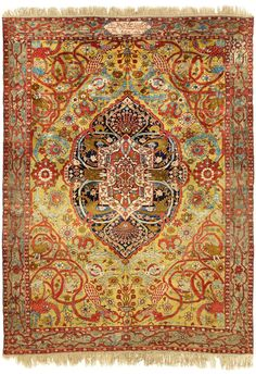An important inscribed and dated West Persian silk rug, made for Baba Khan Na'ib Al-Saltanah (Later Fath-'Ali Shah) in - Alain. Islamic World, Islamic Art, Middle Eastern Art, Magic Carpet, Led, How To Clean Carpet, Drawing, Carpet Runner, Indian Art