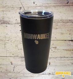 "MUHWAUKEE™ brand travel mug. Because it's not ""Mil""waukee if you're a local."