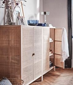 Velvet, rattan and a lot of blue: The IKEA Stockholm and PS collections 2017 are here - Interior Inspiration - Design Rattan Furniture Ikea New, Bedroom Design 2017, Ikea Bedroom, Furniture, Home Furniture, Trending Decor, Wall Storage, Ikea Bedroom Design, Interior Trend