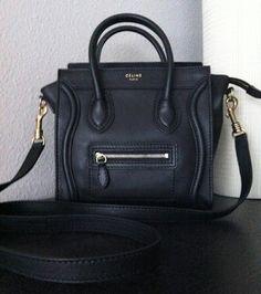 xx ☻ ✿. ✿ Celine Purse, Celine Handbags, Black Handbags, Celine Nano Luggage, Mini Bag, Brand New, Shoulder Bag, Jewels, Purses
