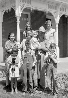 "Farmville: May 1938. ""Farm family, Scioto Farms, Ohio."" 35mm nitrate negative by Arthur Rothstein for the Farm Security Administration."
