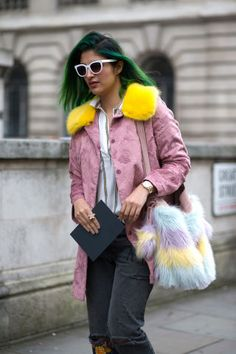 Just because the days are getting colder, doesn't mean you can't still wear any a soft, warm pink shade: