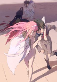 Ecchi Anime Girls Pictures & Images: Darling In The Franxx - Zero Two is one Badass Babe Fairy Tail 2, Fanart, Manga Art, Manga Anime, Disney Pixar, The Ancient Magus, Romantic Manga, Zero Two, Darling In The Franxx