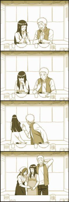 Aww!!! Naruto and Hinata like in that one ending song with Minato and Kushina.