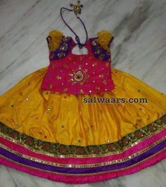 Yellow Pink Mirror Lehenga - Indian Dresses