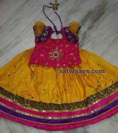 Yellow Pink Mirror Lehenga - Indian Dresses