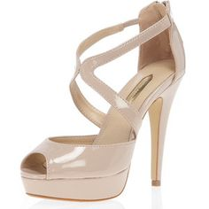 Nude cross-strap high sandals - Dorothy Perkins