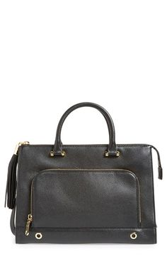 MILLY 'Astor' Leather Tote. #milly #bags #shoulder bags #hand bags #leather #tote #