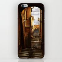 "iPhone & iPod Skin featuring ""An alley in Peccioli"" by Giulia Cerri"