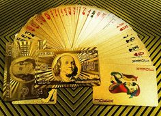 24k Gold Playing Cards - Get the royal experience.