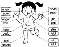 BAHASA MALAYSIA PRASEKOLAH: Latihan Badan Saya Preschool Writing, Preschool Learning Activities, Preschool Printables, Language Activities, Kids Learning, Alphabet Writing, Teach English To Kids, English Stories For Kids, Kindergarten Lessons