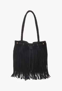Fringed Suede Bucket Bag | FOREVER21 - 1049258637