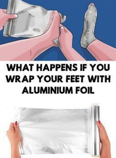 Try wrapping your feet in aluminum foil! We're sure you're familiar with aluminum foil. Many people use it in the kitchen, but not many wou. Weight Loss Plans, Weight Loss Program, Best Weight Loss, Healthy Weight Loss, Weight Loss Tips, Healthy Food, Health And Beauty, Health And Wellness, Health Tips