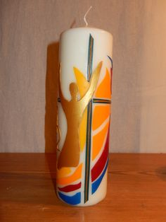 Candle Making, Pillar Candles, How To Make, Lighting, Candles, Dibujo, Pintura, Crosses, Manualidades