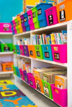 An AMAZINGLY colorful classroom!  Love the organization too!