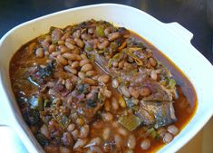 Country Style Pork Ribs and Beans (Slow Cooker) | Centex Cooks