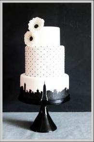 New York city skyline wedding cake Cakes Pinterest Wedding